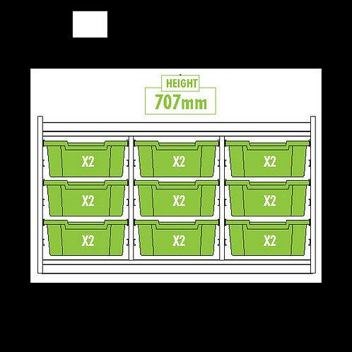 KubbyClass Triple Column Combination Tray Unit (9x X2 Trays)