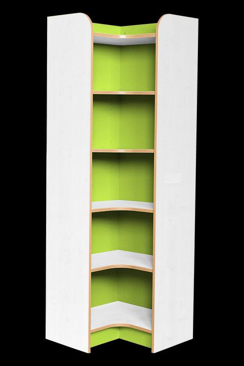 KubbyClass Polar Library Internal Corner Bookcases