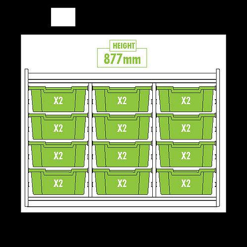 KubbyClass Triple Column Combination Tray Unit (12x X2 Trays)