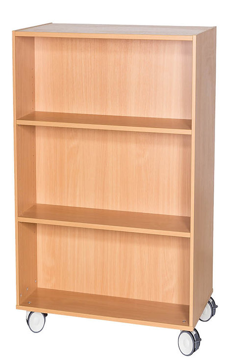1200mm High Mobile Double Sided Bookcase