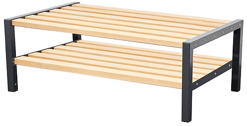 1200mm Double Bench with Shoerack