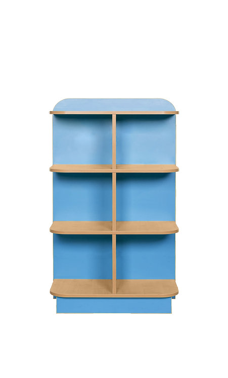 1000mm High KubbyClass D-End Bookcase - Maple/Lime
