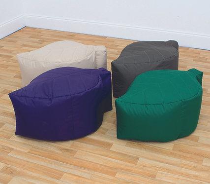 Leaf Bean Pod Seats - Set of Four Naturals