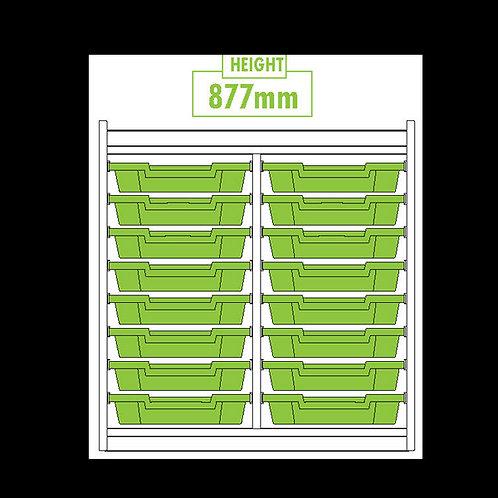 KubbyClass Double Column 16 Tray Unit