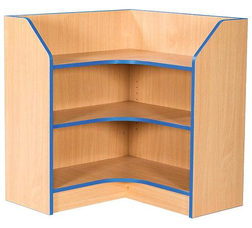 750mm x 750mm Internal Corner Bookcase with Adjustable Shelves