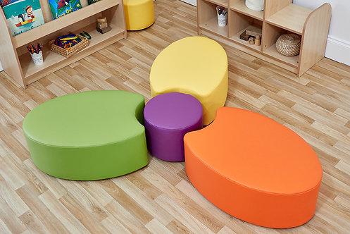 Petal Foam Seat - Set of Three & Dot