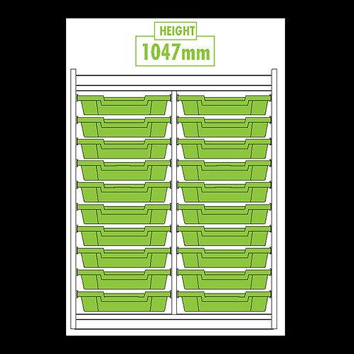 KubbyClass Double Column 20 Tray Unit