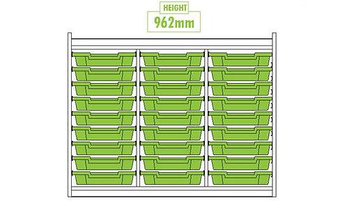 KubbyClass Triple Column 27 Tray Unit