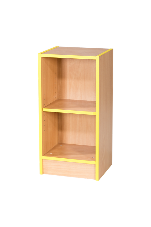 375mm Wide Slimline Flat Top Library Bookcase with Adjustable Shelves