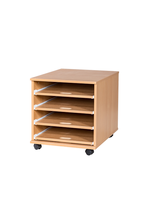 4 Sliding Shelves A2 Paper Storage - Mobile