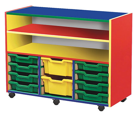 10 Tray Mobile Unit with Shelf