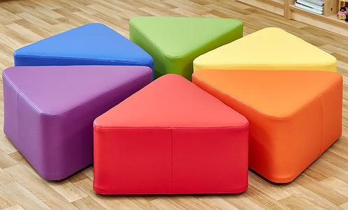 Large Wedge Foam Seats - Set of Six
