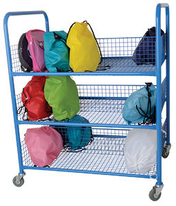 Double Sided Metal Lunchbox Trolley