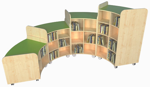 KubbyClass Junior Curved Bookcase Set Q