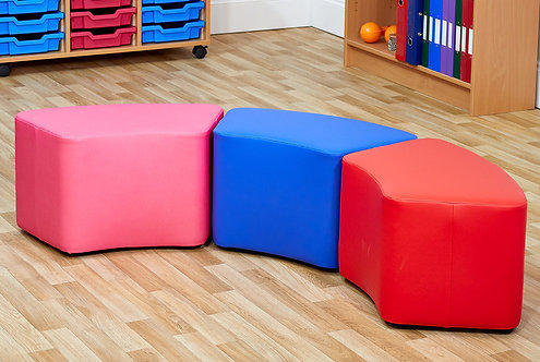 Small Curve Foam Seats - Set of Three