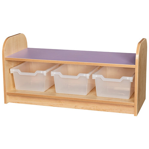 Low Level 1 Tier Tray Unit with Back