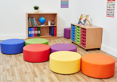 Large Dot Foam Seats - Set of Six