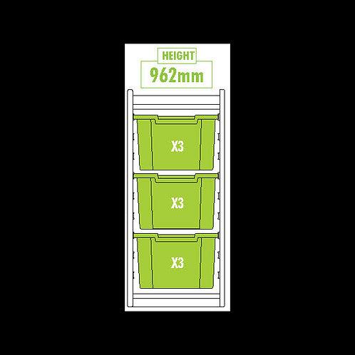 KubbyClass Single Column Combination Tray Unit (3x X3 Trays)