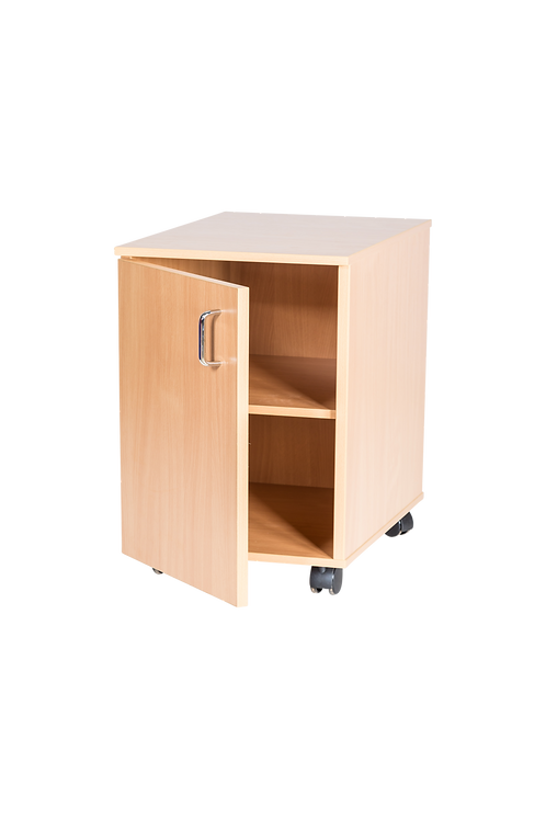 533mm High Single Cupboard - Static with Locks - Beech