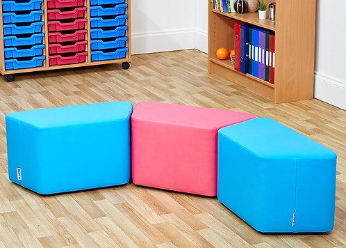 Trapezoidal Foam Seats - Set of Three