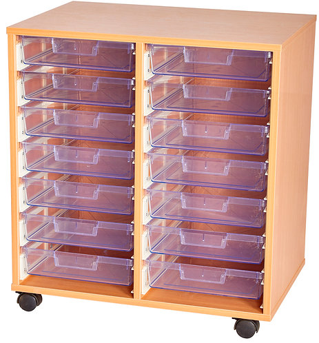 Crystal Clear 14 Tray Double