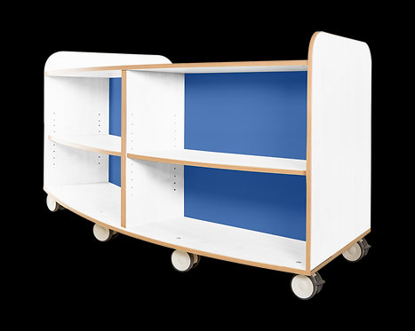 KubbyClass Polar Library Curved Mobile Bookcases