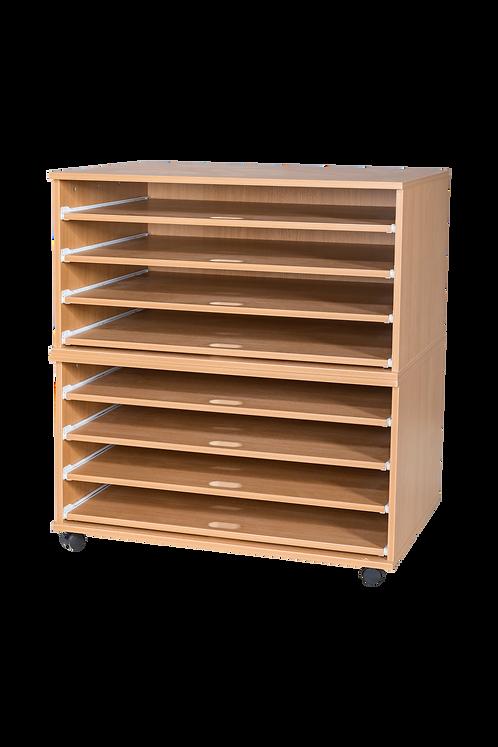 8 Sliding Shelves A1 Paper Storage - Mobile