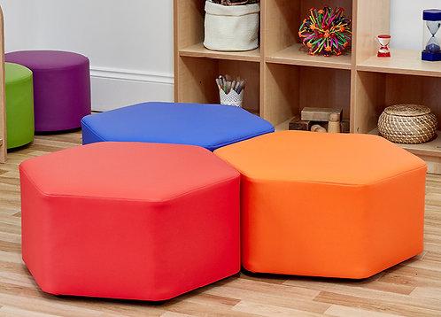 Hexagon Foam Seats - Set of Three