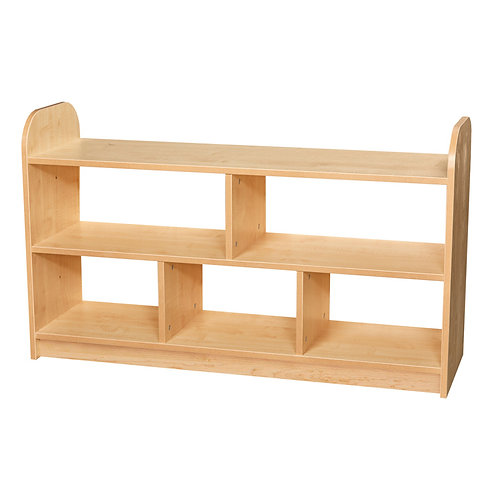 2 Tier Extra Wide Shelving Unit with Open Back