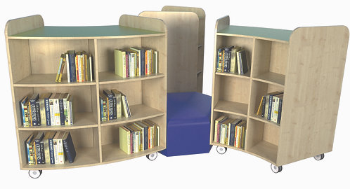 KubbyClass Curved Library Island - Set R