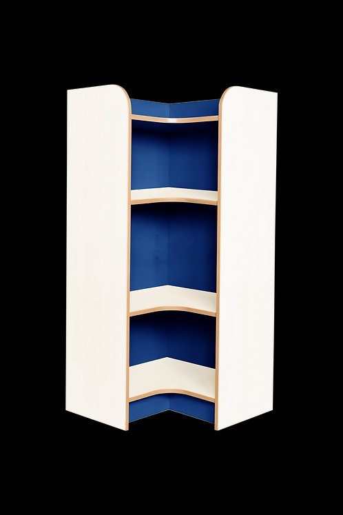 KubbyClass Polar Library Internal Corner Bookcases