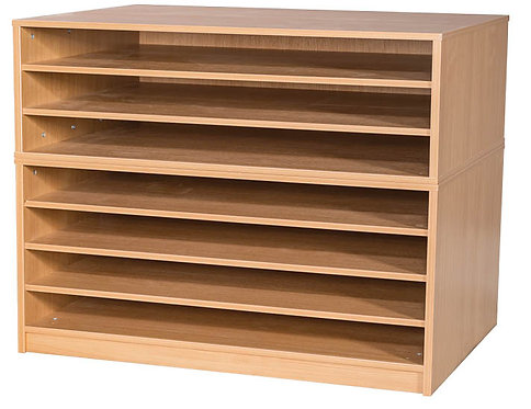 7 Fixed Shelves A1 Paper Storage - Mobile
