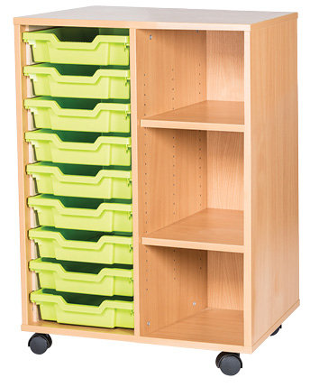 9 Tray double unit with shelves