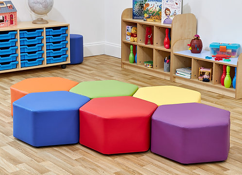 Hexagon Foam Seats - Set of Six