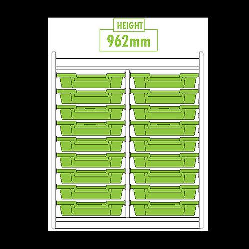 KubbyClass Double Column 18 Tray Unit