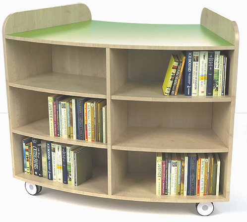 1000mm High Junior Curved Bookcase