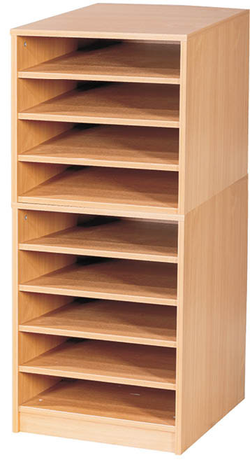 9 Fixed Shelves A2 Paper Storage - Static