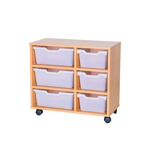 3 Deep &  3 Wide Cubby Tray Double