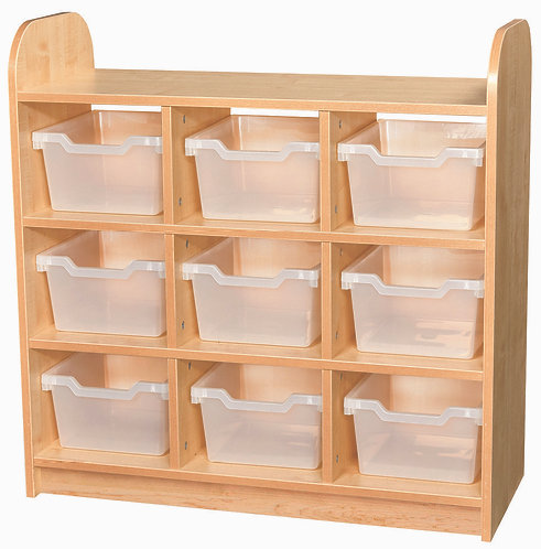 3 Tier Tray Cube Unit - Open Back