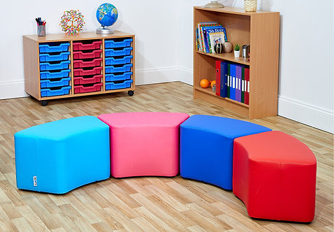 Small Curve Foam Seats - Set of Four