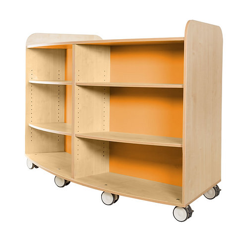 1000mm High Curved Bookcase