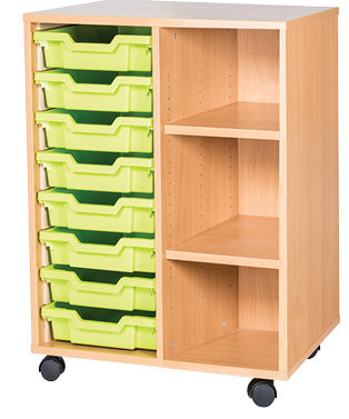 8 Tray double unit with shelves