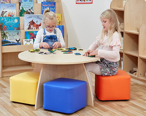 Activity & Reading Table with Four Cube Seats