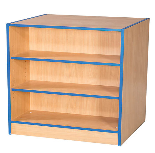 750mm Wide Double Sided Flat Top Bookcase with Adjustable Shelves