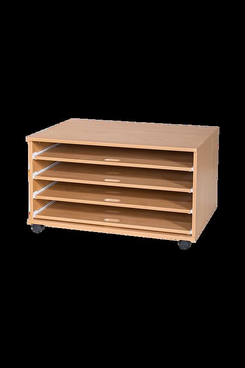 4 Sliding Shelves A1 Paper Storage - Mobile