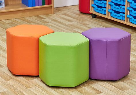Mini Hexagon Foam Seats - Set of Three