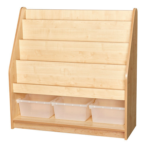 1 Metre High Display Bookcase with 3 Trays