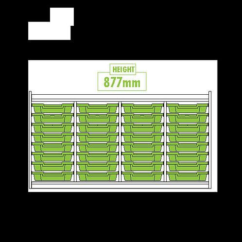 KubbyClass Triple Column 32 Tray Unit