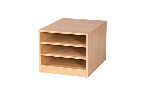 3 Fixed Shelves A2 Paper Storage - Mobile