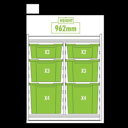 KubbyClass Double Column Combination Tray Unit (2x X2,X3,X4 Trays)